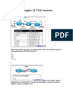 CCNA 2 Routing Protocols and Concepts (V4.0) Chapter 11 Exam