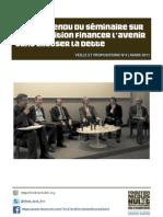 Seminaire  Financer l'avenir sans creuser la dette