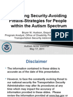 Transportation Security Administration Webinar with Autism NOW May 17, 2011