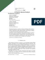 A Mathematical Model for Quorum Sensing in Pseudomonas Aeruginosa