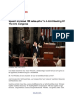 Speech by Israel PM Netanyahu to a Joint Meeting of the U.S. Congress