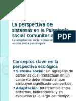 La perspectiva de sistemas en la Psicología social