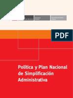 Politica y Plan Nacional de Simplificacion Administrativa (1)