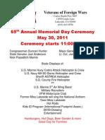 VFW Memorial Day Ceremony