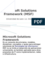 Microsoft Solutions Framework (MSF)