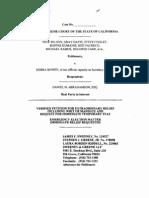 Petition for Writ of Mandate in Wilson v. Bowen