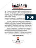 MIR - Declaración Pública - movilizaciones - mayo 2011
