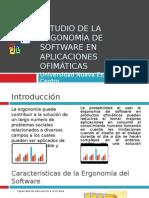 Ergonomía de software en aplicaciones ofimaticas