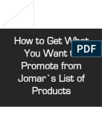 How to Get What You Want to Promote From Jomar's List of Products