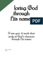 Exploring God Through His Names