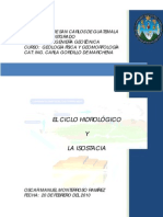 TRABAJO FINAL CICLO HIDROLÓGICO E ISOSTACIA