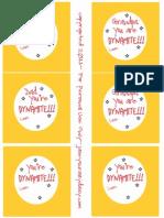 Dynamite Dad Printable