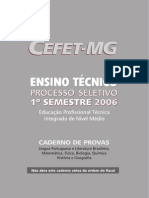 Prova Cefet Mg 2006 1 Integrado
