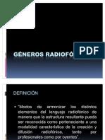 Deapositiva de Los Generos Radiofonicos