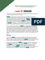 Dementia Alzheimer Disease