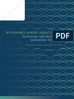 Sustainable Marine Aquaculture