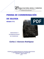Piedra de Conmenoracion de Iglesia
