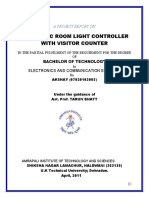 Automatic Room Light Controller With Bidirectional Visitor Counter
