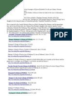 Three Genealogies of Persian Kings to English Monarchs Queen Elizabeth II-PDF.