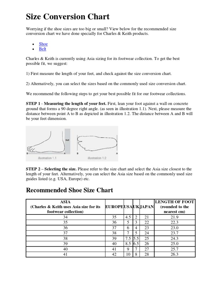 Charles and keith size conversion chart geenschuldenfo Image collections
