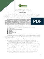 CODE of ETHICS_Philippine Social Enterprise Network