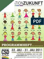 Programmheft des Christopher Street Day (CSD) Stuttgart 2011