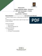 MC0081 . DOT Net Technologies Assignement Feb 11