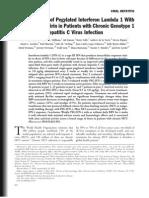 Phase 1b Study of Pegylated Interferon Lambda 1 With or Without Ribavirin