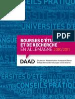 Bourses d Etudes Et de Recherche 2010 2011