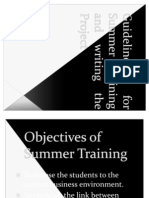 Summer Training Project- SIBACA