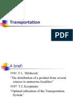 Assignment Transportation