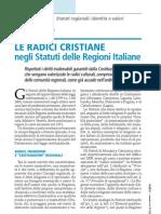 Le radici cristiane negli Statuti delle Regioni Italiane