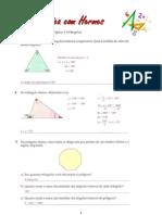 Ângulos de um polígono e triângulos
