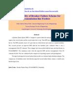 Reliability of Breaker Failure Scheme