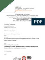 Bologna Workshop Programme