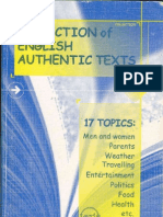 Collection of English Authentic Texts-Mantesh