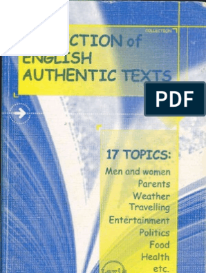 Collection of English Authentic Texts-Mantesh | Intimate