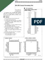 Sharp LH0080 - Z80 CPU Datasheet