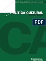 Política Cultural Cataluña 2010