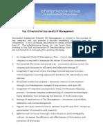 Top 10 Factors for Successful IP Management