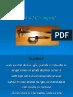 sublerul si micrometrul