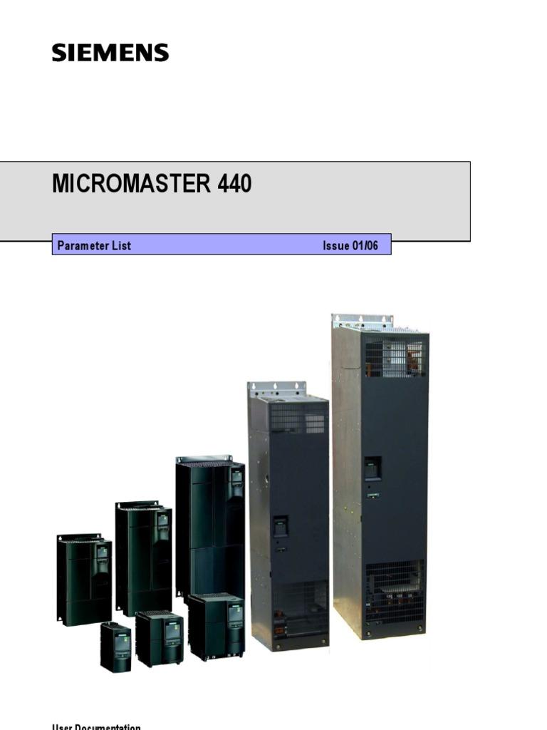 Mm440 Manual Siemens Vfd