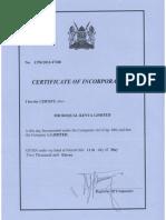 Microqual Kenya Ltd - Cert of Incorp
