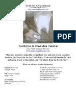 Tooth Box & Card Tutorial
