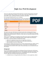 Choosing the Right Java Web Development Framework