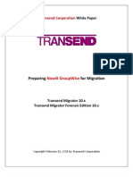 Preparing Novell GroupWise for Migration