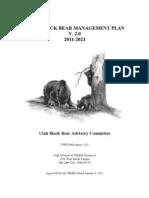 Utah Black Bear Management Plan, 2011-2023