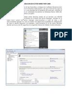 Configuracion de Active Directory 2008