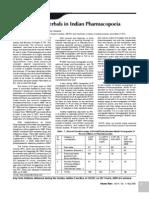 Resurgence of Herbals in Indian Pharmacopoeia