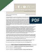 Design for Social Entrepreneurship Syllabus